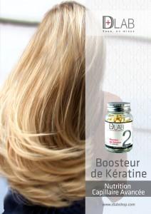 Booosteur de Kératine D-Lab Beauté des cheveux abîmés : Complément alimentaire beauté cheveux