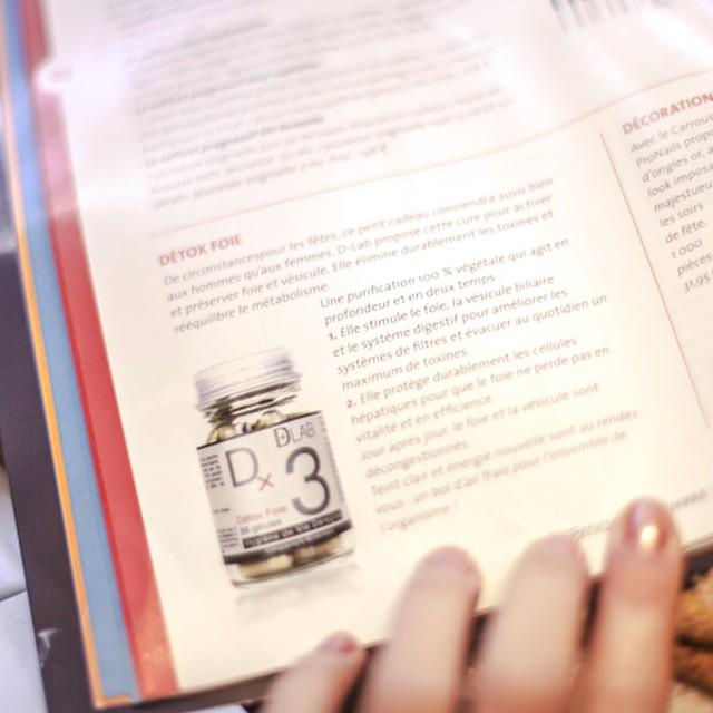 DLAB c'est aussi dans vos magazines ! #sbmag {Article #Detox Foie} Une bonne idée cadeau pour Noël ? #dlab #vegetale #gelules
