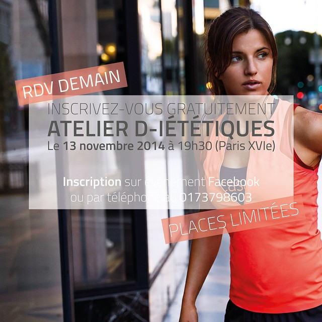 Rendez-vous demain ! Pour un atelier d-ietetiques ✌️ #paris #75016 #animaathletica #rdv