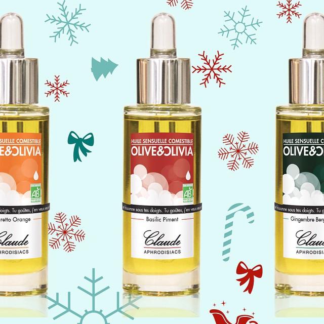 Olive & Olivia c'est des huiles qu'on vous conseille pour les fêtes ? Huile sensuelle comestible #piment #basilic #amaretto #gingembre #bergamote #orange